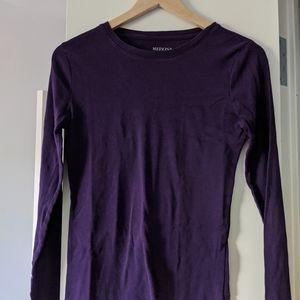 Long-Sleeve Cotton T Shirt